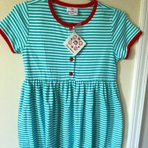 NWT Hanna Andersson Size 140 striped play dress